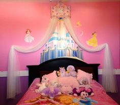 Disney Princess TiArA CROWN Crib Canopy Cornice Bed SALE PERSONALIZED by SoZoeyBoutique on Etsy