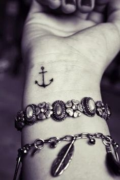 small anchor wrist tattoo
