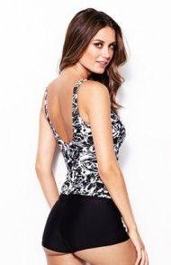 Zestaw tankini Shapewear (czarny/w kwiaty) Tankini, Shapewear, Swimwear, Shopping, Fashion, Bathing Suits, Moda, One Piece Swimsuits, Fashion Styles