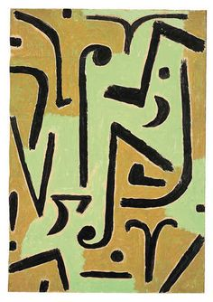 Halme (Blades), 1938, by Paul Klee