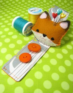 fox pin cushion wristlet  for my doll making students!