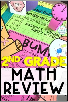 Looking for end of the year math activities and lesson plans? This pack is full of 30 activities for a 2nd grade math review! It covers measurement, compainr numbers, telling time, counting money, and much more! Whole group, small group and independent work are all included. Students will be engaged with these fun activities, games, and task cards!. (Second grade)