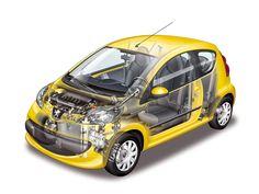 2005-08 Peugeot 107 3-door Jaune Citrus - Illustrator unknown