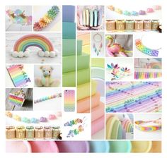"""""""Rainbow of Pastels"""" by andreadawn1 ❤ liked on Polyvore featuring Samsung and Dollhouse"""