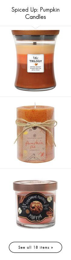 """""""Spiced Up: Pumpkin Candles"""" by polyvore-editorial ❤ liked on Polyvore featuring pumpkincandles, home, home decor, candles & candleholders, autumn comforts, apple scented candles, pumpkin candle, fall home decor, citrus candle and fragrance candles"""