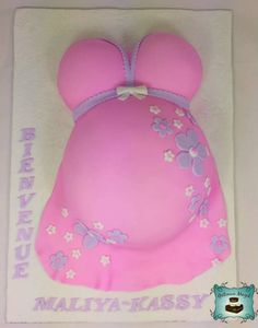 baby shower belly pregnant cake Gâteau bedaine bébé shower www.facebook.com/gateauxmagik