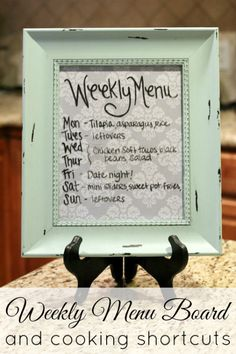 Weekly Menu Board & Cooking Shortcuts | Houston Moms Blog {Perfect for the meal planning mama!!}
