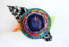 Hilary White creates three-dimensional works using multiple mediums. While studying painting she continued to develop her love of sculpture Mixed Media Artists, Three Dimensional, Cosmic, Giclee Print, Sculptures, Gallery, Artwork, Painting, Image