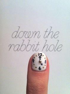 clock nail art #nail_art #manicure #nails
