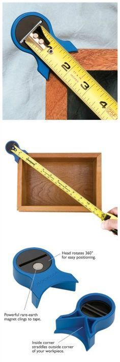 Square Check for Tape Measures. Rockler.com woodworking tools #woodworkingtools