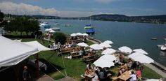 Restaurant, beach, camping, beach sports, shop and fishery. Zurich, Switzerland, Dolores Park, Things To Do, Bucket, Restaurant, Spaces, Amazing, Travel