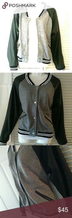 Victoria's secret varsity jacket NWOT  Size large  2 pockets  Snap closure Victoria's Secret Jackets & Coats