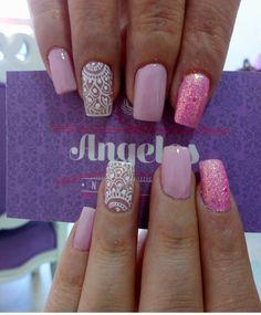 Hello Nails, Lace Nails, Pink Nail Art, Nail Arts, Pedi, Beauty Nails, Hair And Nails, Nail Art Designs, Make Up