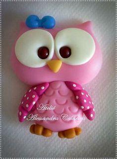 polimer clay owl