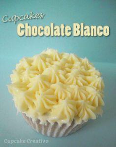 Receta Cupcakes de Chocolate Blanco, Buttercream de Chocolate Blanco
