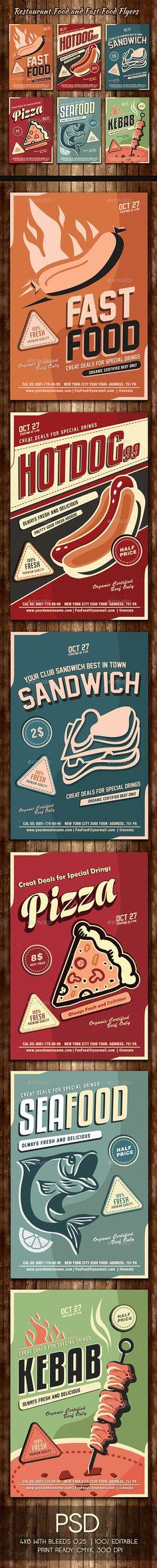 Food Flyer Restaurants, Food and Template - menu flyer template