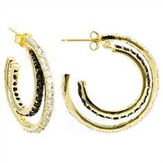 Marquita's Double Hoop CZ Earrings