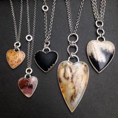 Jodi Rae gemstone heart necklaces.