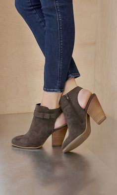 Beautiful suede bootie heels.