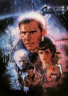 Ridley Scott's 'Blade Runner': A Game-Changing Science-Fiction Classic Classic Movie Posters, Movie Poster Art, Film Posters, Classic Films, Blade Runner Art, Blade Runner Poster, Hr Giger, Sean Young, Image Film