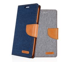 MERCURY CANVAS DIARY WALLET FOLIO CASE FOR IPHONE 5S