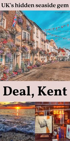 Join me on a journey to the magical seaside town of Deal with its colorful narrow streets, beautiful beach, the pier, quirky architecture, and two castles! | UK travel, UK seaside town, Europe's secret locations, hidden gems, UK holiday, most picturesque towns in England, seaside retreat, places to visit in the UK, best seaside towns, the best beach UK, seaside breaks, best beach near London, things to do in Kent, beach day trips from London, best beaches in England, wild swimming UK Kent Beach, Beach Uk, Travel Uk, Europe Travel Tips, Places To Travel, World Travel Guide, Travel Guides, Amazing Destinations, Travel Destinations