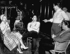 Inside Wild In The Country On set & Location 1960 Juliet Prowse, Elvis Presley, Pat Boone and Sonny West. Wild In The Country, Country Fall, Pat Boone, Elvis Presley Movies, Blues, Drama Film, Sports Stars, Thats The Way, Graceland