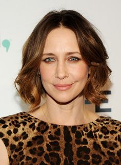 Vera Farmiga attends A+E Networks 2014 Upfronts. Hair by Rebekah Forecast. Makeup by Mayia Alleaume.