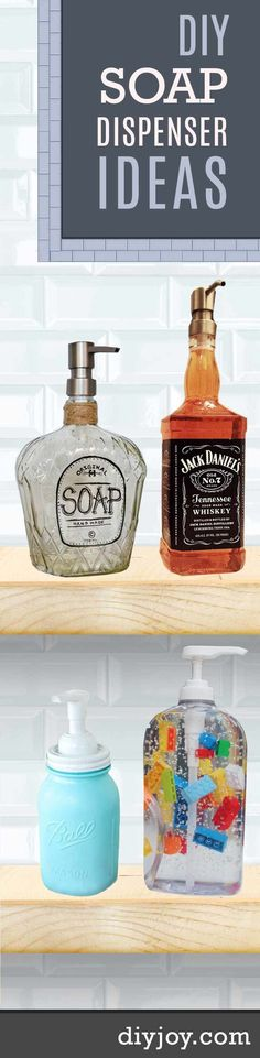 DIY Soap Dispenser Ideas | Do It Yourself Kitchen and Bath Decor at http://diyjoy.com/craft-ideas-diy-soap-dispensers