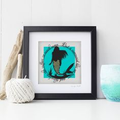 A beautiful print of my delicate Mermaids Have No Tears papercut on 220 gsm matte canvas paper. The papercut print depicts a scene from The Little Mermaid, with the quote Turquoise Background, Bubble Wrap Envelopes, Quirky Gifts, Canvas Paper, Wall Art Quotes, Box Frames, The Little Mermaid, Paper Cutting, Fairy Tales