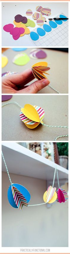Make a paper Easter egg garland with colorful paper, glue, and twine! Easter Activities For Kids, Easter Games, Easter Outfit For Girls, Diy Ostern, Dollar Store Crafts, Easter Crafts, Easter Ideas, Easter Party, Easy Diy Crafts