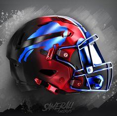 Cool Football Helmets, Football Helmet Design, Football Art, Buffalo Bills Logo, Buffalo Bills Football, College Football Uniforms, 32 Nfl Teams, Sports Graphic Design, Nfl Logo