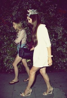 Chuck Grant and Lana Del Rey. #sisters #bffs #family
