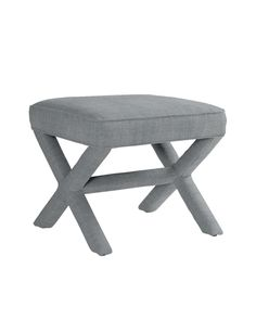 Get the ballard design one! does it fit under urban outfitter nakeup table?Custom Upholstered Parker X Bench in Designer Fabrics Dining Room Design, Dining Room Chairs, End Of Bed Bench, Small Bench, D House, Bistro Chairs, Ottoman Bench, Bed Furniture, Furniture Ideas