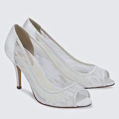 Scrumptious Lace Bridal Shoes