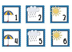 Weather Calendar pieces