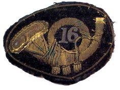 RARE Original 16th INFANTRY BULLION OFFICER'S HAT INSIGNIA