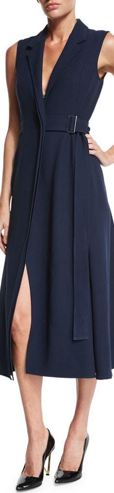 Jason Wu Sleeveless Belted Gilet Dress