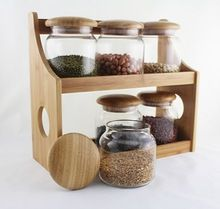 Storage Bottles & Jars, Storage Bottles & Jars direct from Anxi Kinlenhon Industrial Trade Co. in China (Mainland) Diy Wooden Projects, Eco Kitchen, Industrial, Wooden Projects, Seasoning Rack, Storage, Wood Spice Rack, Wooden Diy, Bottles And Jars