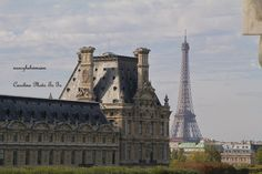 Louvre Museum and Eiffel Tower, Paris France high definition photograph $30.00