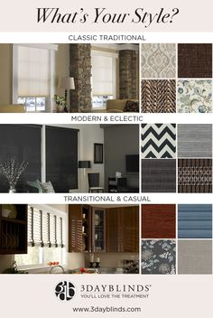 Classic traditional or modern and eclectic...do you know what your style is?