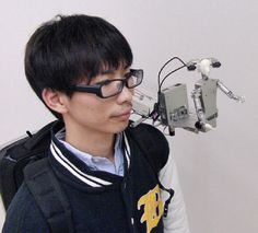 Japanese MH-2 Shoulder Robot Wants To Be Your Friend, Literally #Robot #Robotique
