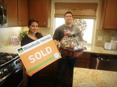 Welcome Home Melissa & Whalter! New Homeowners in our Avalon/Tarrington Park Community! Congratulations from Woodside Homes Fresno.