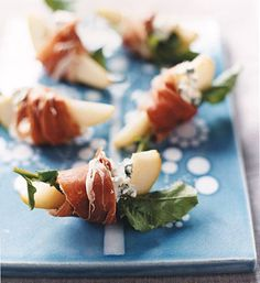 Pears With Blue Cheese and Prosciutto | Get the recipe for Pears With Blue Cheese and Prosciutto.