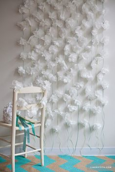 DIY: Cocktail Napkin Flower Garland || Lia Griffith
