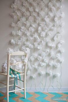 flores de papel con servilletas - Buscar con Google
