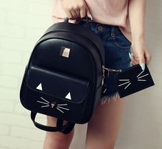 www.sanrense.com - Cute cartoon cat backpack SE8690