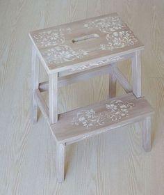 Мебель ручной работы. Ярмарка Мастеров - ручная работа % табурет стремянка, табурет ступенька Цветочный узор. Handmade.