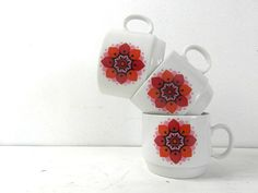 3 porcelain espresso coffee cups. Fine by frenchvintagedream