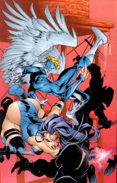 Psylocke and Archangel by Carlos Pacheco, colours by Christian Lichtner | Liquid